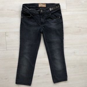 Galliano jeans black made in Italy 29